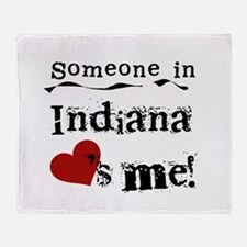 Someone in Indiana Throw Blanket