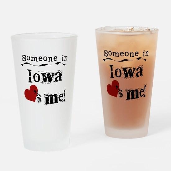 Someone in Iowa Pint Glass