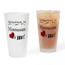 Minnesota Loves Me Pint Glass
