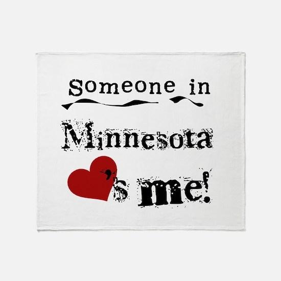 Minnesota Loves Me Throw Blanket