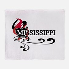 Heart Mississippi Throw Blanket