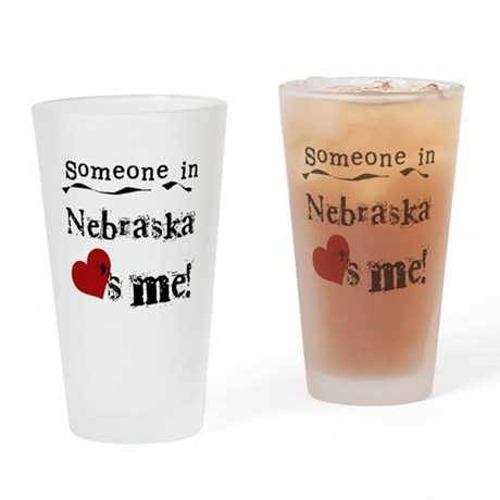 Someone in Nebraska Pint Glass