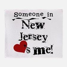 Someone in New Jersey Throw Blanket
