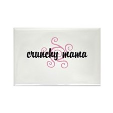 crunchy mama Rectangle Magnet