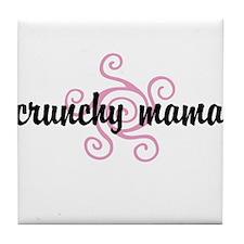 crunchy mama Tile Coaster