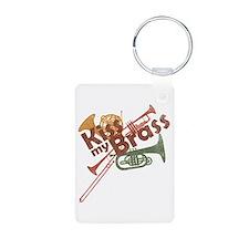 Kiss My Brass Keychains