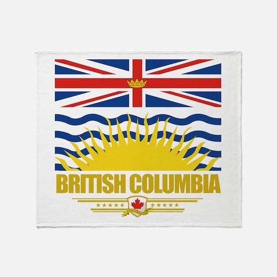 British Columbia Pride Throw Blanket