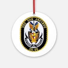 USS San Jacinto CG 56 Ornament (Round)