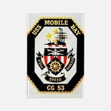 USS Mobile Bay CG-53 Rectangle Magnet