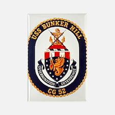 USS Bunker Hill CG 52 Rectangle Magnet