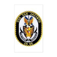 USS San Jacinto CG 56 Rectangle Decal
