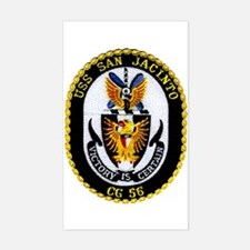 USS San Jacinto CG 56 Rectangle Decal