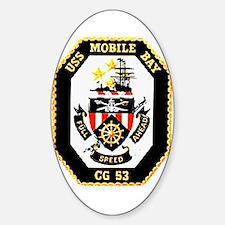 USS Mobile Bay CG-53 Oval Decal