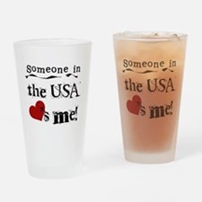USA Loves Me Pint Glass