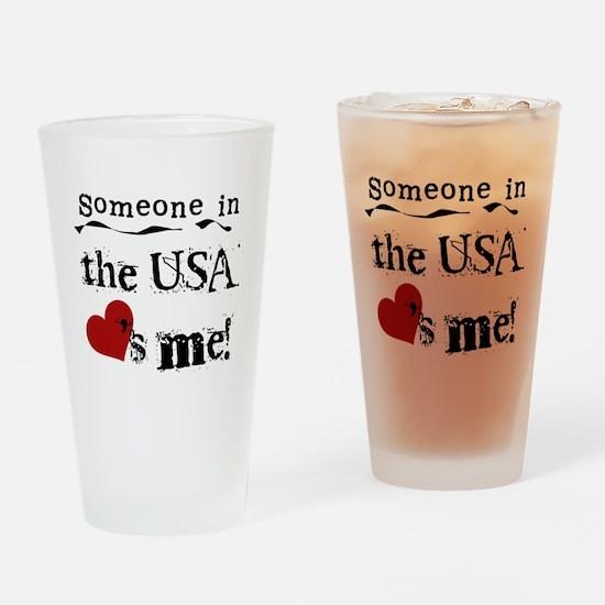 USA Loves Me Pint Glass