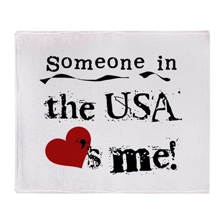 USA Loves Me Throw Blanket