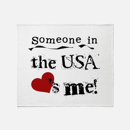 USA Loves Me Throw Blanket