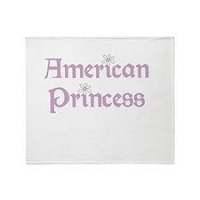 American Princess Throw Blanket