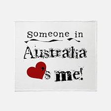 Australia Loves Me Throw Blanket