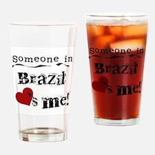 Brazil Loves Me Pint Glass