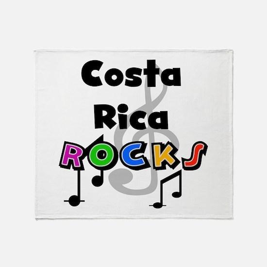 Costa Rica Rocks Throw Blanket