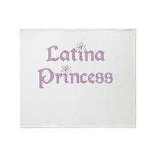 Latina Princess Throw Blanket