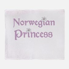 Norwegian Princess Throw Blanket