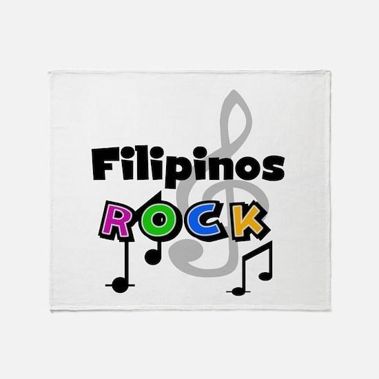 Filipinos Rock Throw Blanket