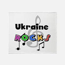 Ukraine Rocks Throw Blanket