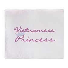 Vietnamese Princess Throw Blanket