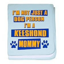 Keeshound Mommy baby blanket