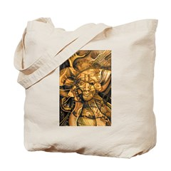 African Spirit in Ochre Tote Bag