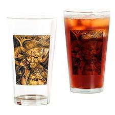 African Spirit in Ochre Pint Glass
