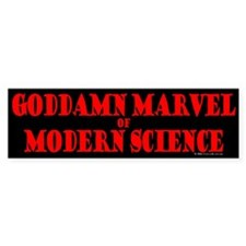 Modern Science Bumper Bumper Sticker
