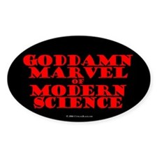 Modern Science Oval Decal
