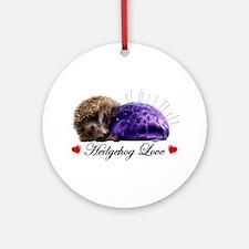 Hedgehog Love Ornament (Round)