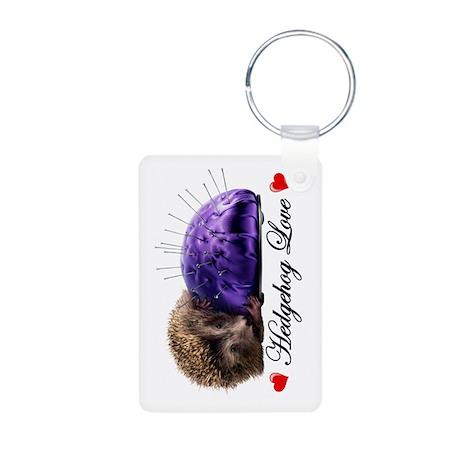 Hedgehog Love Aluminum Photo Keychain