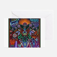Chapala Huichol Greeting Card
