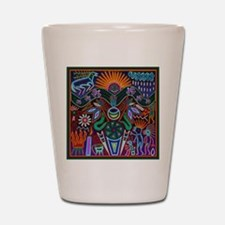 Chapala Huichol Shot Glass