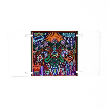 Chapala Huichol Aluminum License Plate