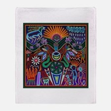 Chapala Huichol Throw Blanket