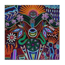 Chapala Huichol Tile Coaster