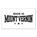 Made In Mount Vernon Sticker (Rectangle)