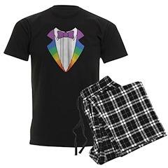 Rainbow Tuxedo Pajamas