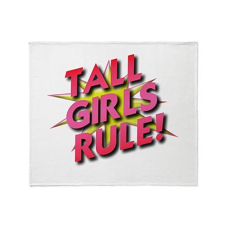 Tall Girls Rule! Throw Blanket