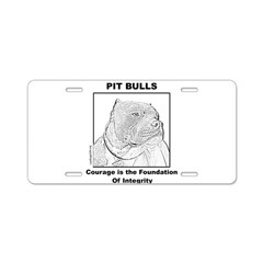 Pit Bull Courage Aluminum License Plate