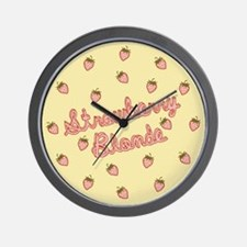 Strawberry Blonde Wall Clock