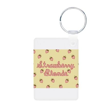 Strawberry Blonde Aluminum Photo Keychain