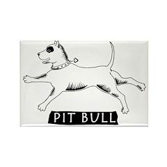 Dancing Pit Bull Rectangle Magnet (100 pack)