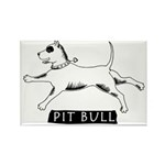 Dancing Pit Bull Rectangle Magnet (10 pack)